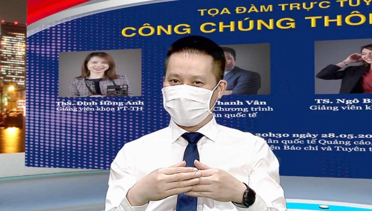 TS Vũ Thanh Vân, Trưởng ban Hợp tác quốc tế, Giám đốc chương trình chia sẻ tại buổi Tọa đàm