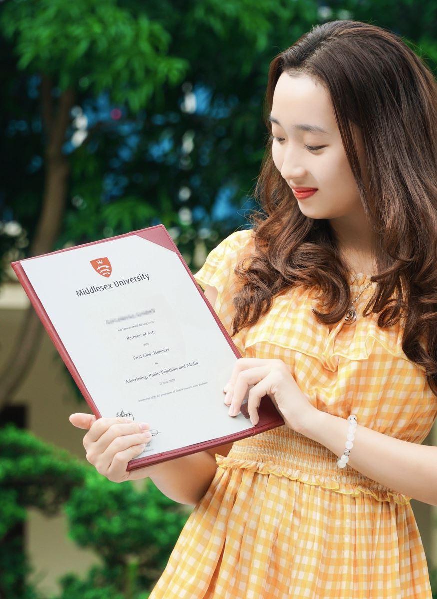 Bằng tốt nghiệp do Đại học Middlesex cấp có giá trị quốc tế và được Bộ Giáo dục và Đào tạo Việt Nam công nhận